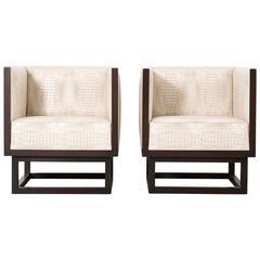 Josef Hoffmann for Wittmann Set of Cabinett Lounge Chairs