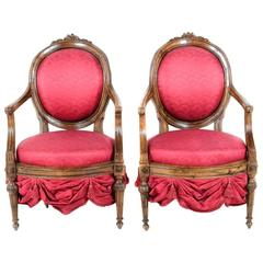 18th Century Italian Chairs Fabricated by Madeleine Castaing