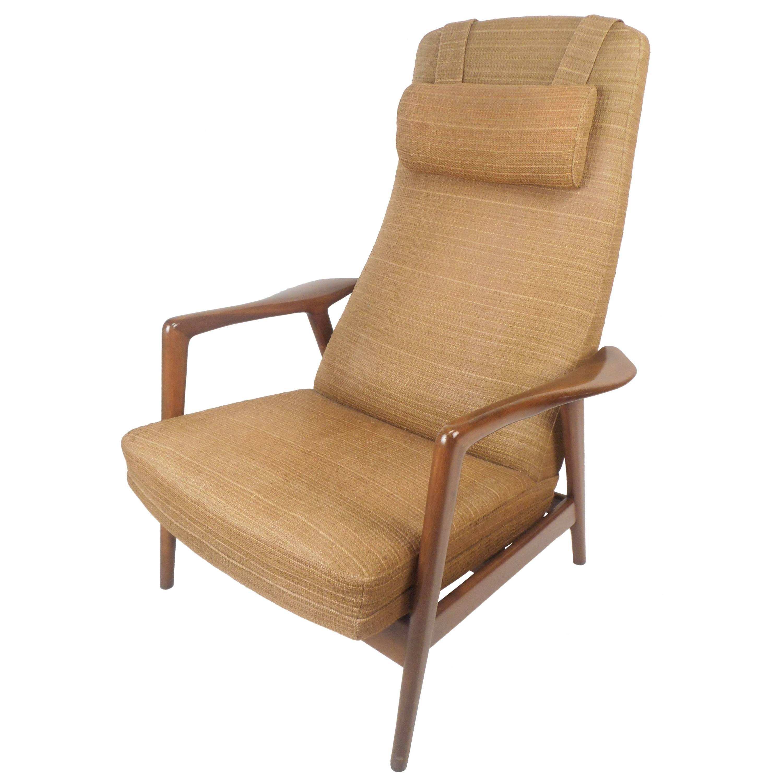Mid-Century Modern Folke Ohlsson DUX Reclining Lounge Chair