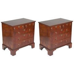 Pair of Oyster Shell Veneer Chests of Drawers