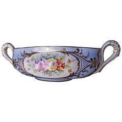 Blue Amoge Bowl with Gold Trim. Blue Center piece