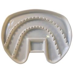 Large Tooth Shaped Porcelain Tray for Dental Instruments, Bauhaus, Germany 1930s