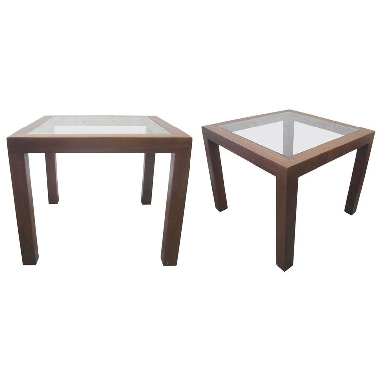 Walnut Side Tables by John Keal for Brown Saltman