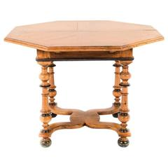 19th Century Octagonal Napoleon III Fruitwood Table