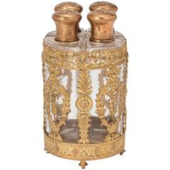 19th Century, Palais Royal Gilt Bronze Doré Perfume Bottles