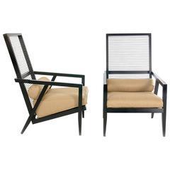 Pierantonio Bonacina, Pair of 'Astoria Hb' Lounge Chairs, 1990s