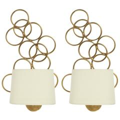 1970s Pair of Maison Honore Sconces