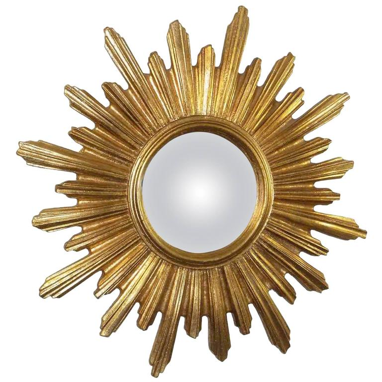 Sunburst Starburst Gilded Resin Mirror, France