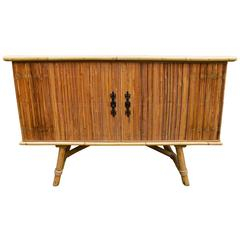 Fantastic Wicker Buffet by Audoux Minet, circa 1960