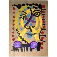 Picasso Original Litograph Portrait Imaginaire, 1969, signed