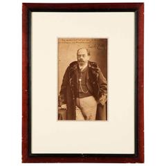 Rare Photograph of Emile Zola by Nadar, 19th Century