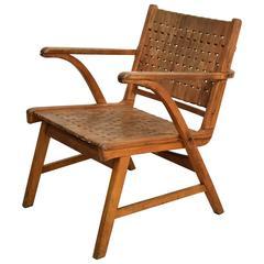 Beechwood Bauhaus Lounge Chair by Erich Dieckmann