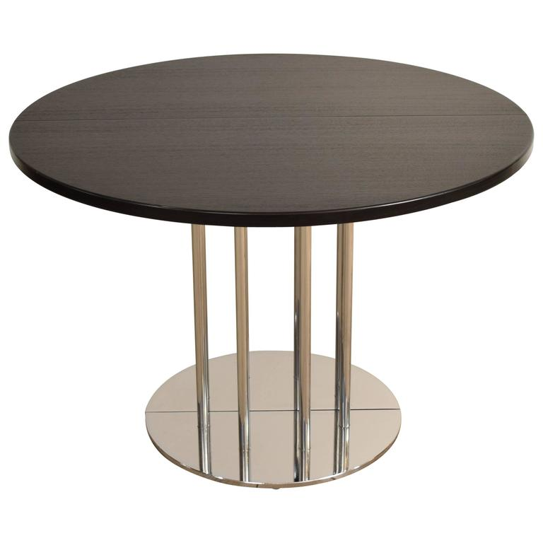 Extendable Round Bauhaus Dining Table By Thonet S1047