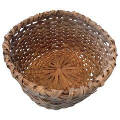 Humungous Striking Antique Woven Splint Basket