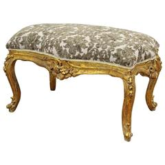 Louis XV StyleCarved and Gilded Bench