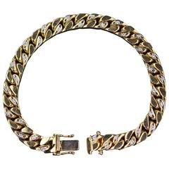 Wonderful Brilliant Bracelet, 585 Yellow Gold with 36 Brilliants