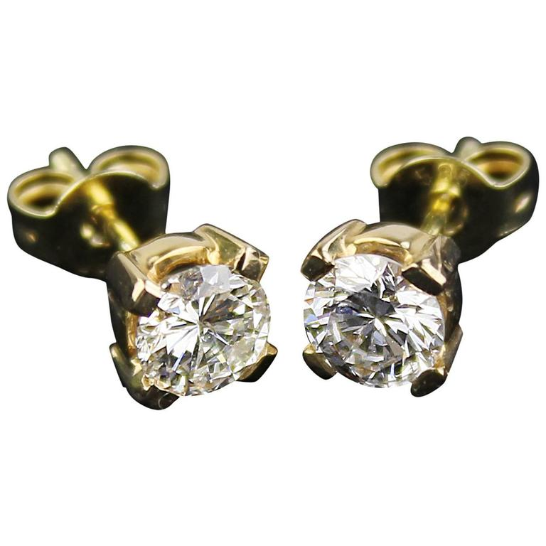 topaz stud diamond gold harlequin yellow and karat solid earrings front goldgems product