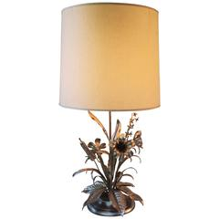 Floral Table Lamp from the 1970s
