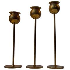 Mid-Century 'Tulip' Candlesticks by Pierre Forsell for Skultuna, Sweden, 1960