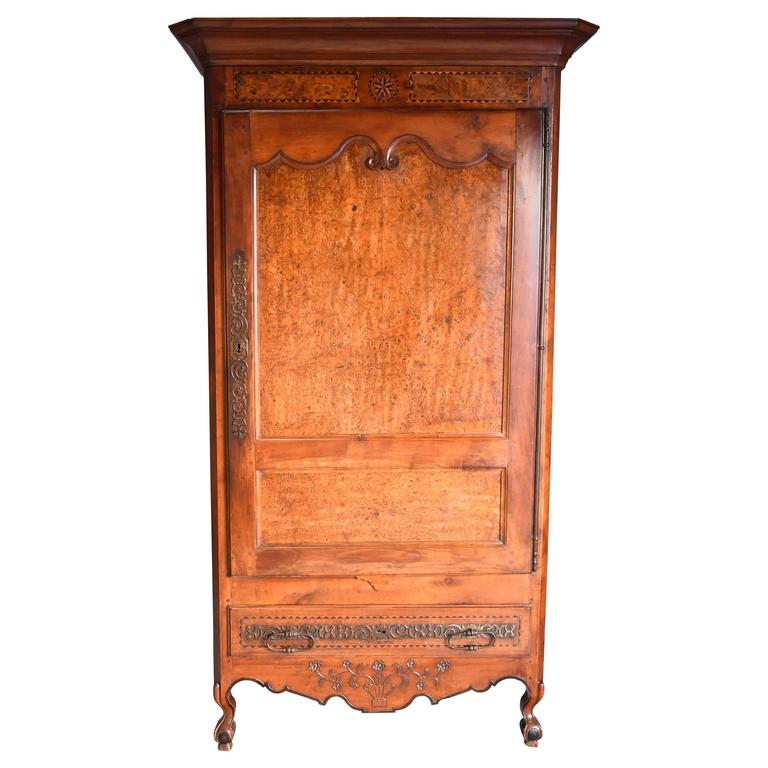 Late 18th Century Louis XV Fruitwood & Burr Elm Bonnetiere of Superb Patina