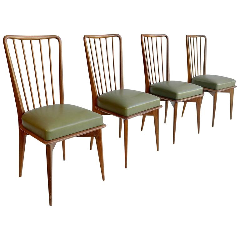 Paolo Buffa Dining Chairs, Italy, 1950s For Sale