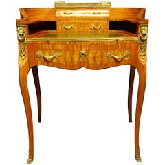Outstanding Parquetry French Ladies Writing Desk