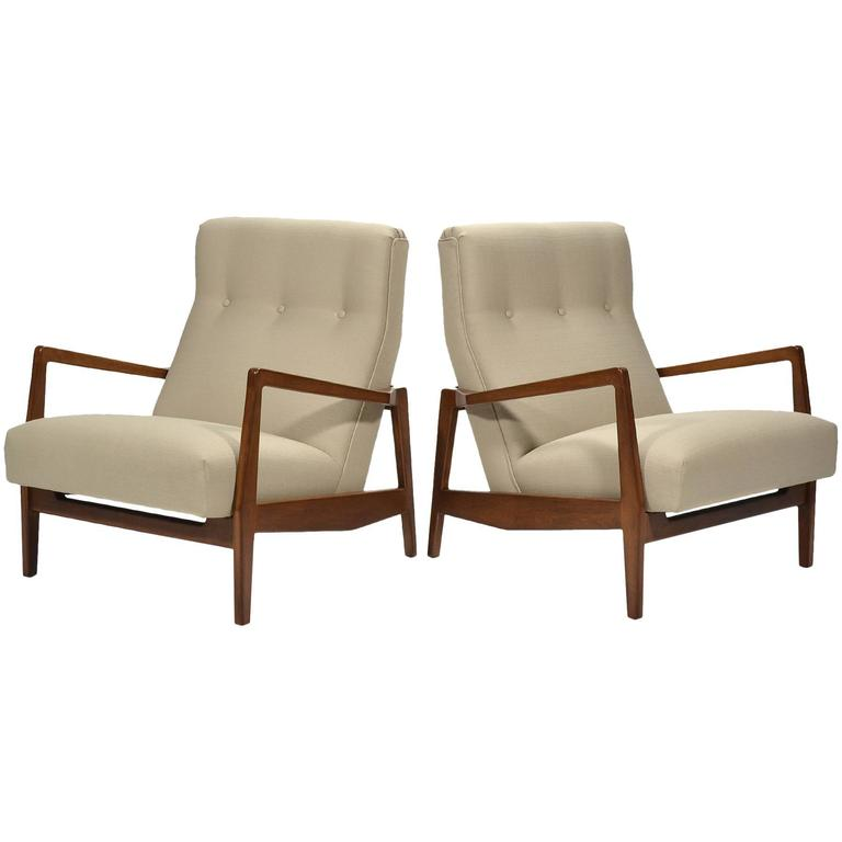 Jens Risom Pair of Lounge Chairs 1