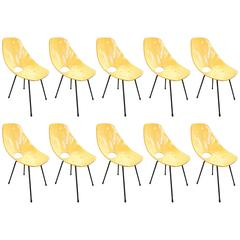 Fantastic Set of Ten Medea Chairs by Vittorio Nobili Signed, circa 1960