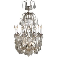 20th Century French Curved light arms Chandelier