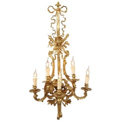 20th Century Louis XVI Style Five-Flamed-Light Applique