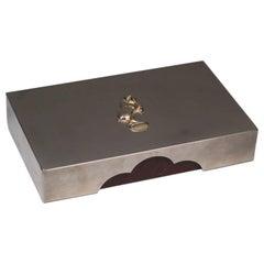 Leather Trimmed Italian Ram Jewellery Box