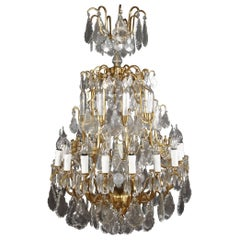 20th Century Louis 15th Style Prisms Chandelier