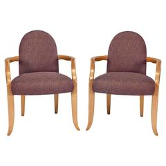 Pair of Castle Armchairs in Maple by Wendell Castle