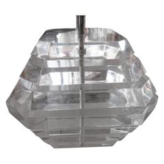 Gorgeous Stacked Lucite Lamp by George Bullio
