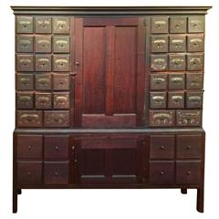 Walnut Apothecary Chest Dorchester, Massachusetts, 18th Century