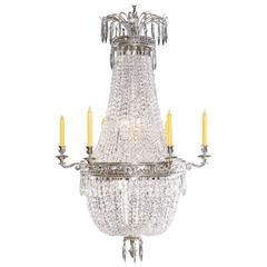 20th Century Empire Style Basket Chandelier