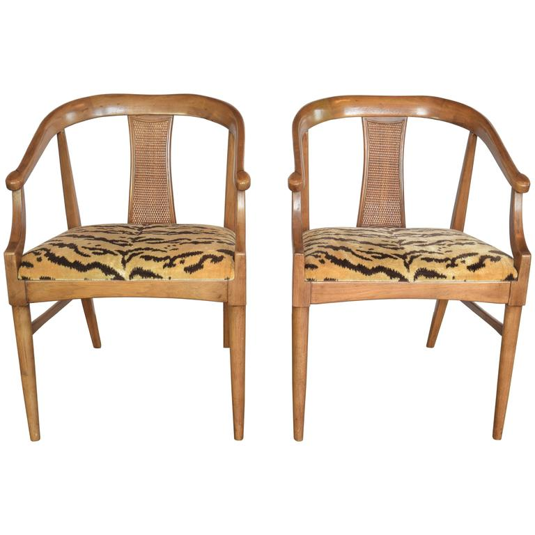 Pair of Midcentury Chairs by Lane For Sale