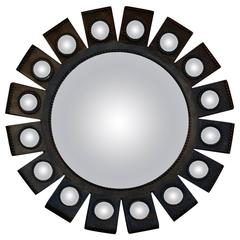 1970-1980 Convex Mirror with Its 16 Small Convex Mirrors