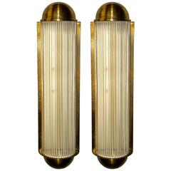 Pair of Art Deco Large Theater Sconces from Belgium in the Style of Petitot