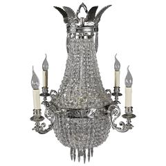 20th Century Biedermeier Style Basket Chandelier