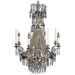 20th Century Classicist Style Swedish Ceiling Chandelier