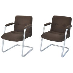 Pair of Cantilever Midcentury Lounge Chairs