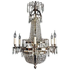 20th Century Classicist Style Swedish Empire Ceiling Candelabra
