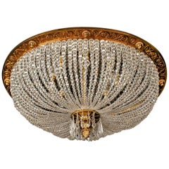 20th Century Louis Seize Style Oval Ceiling Lamp or Plafonière