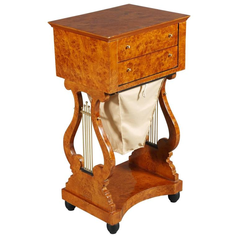 20th Century Biedermeier Style Sewing Table For Sale