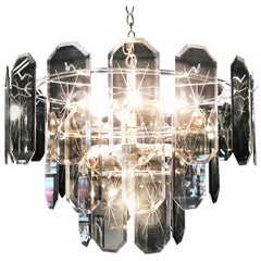 20th Century Two-Tiered Amber Crystal Chandelier