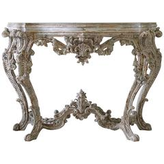Early 19th Century Louis XV Style French Patinated Freestanding Console