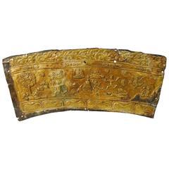 Antique Gilt Bronze Tibetan Altar Fragment, 16th-17th Century