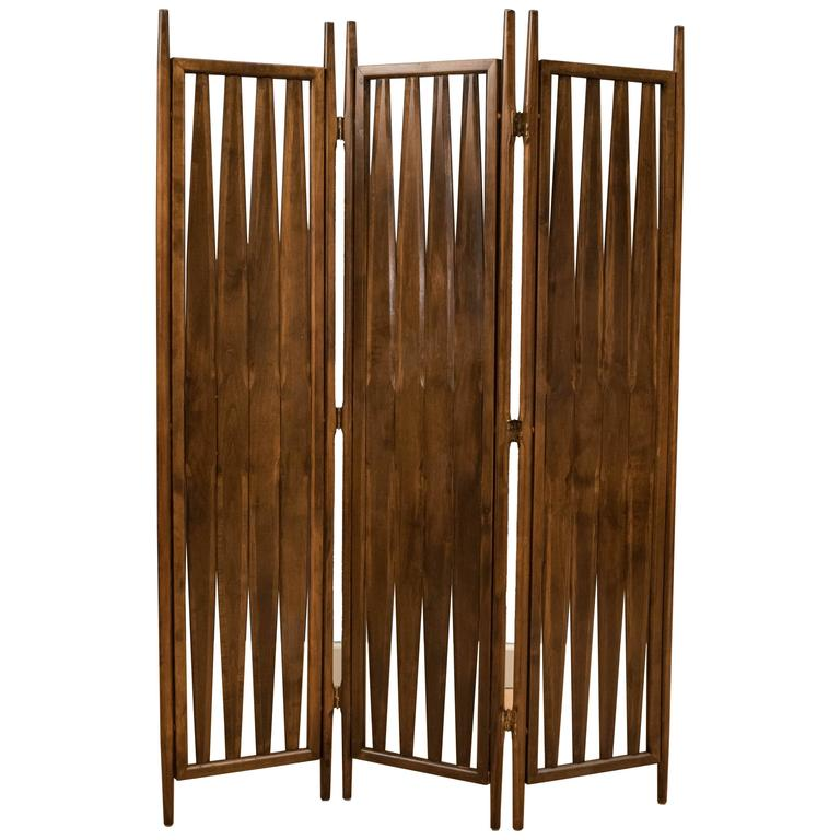 mid century screen room divider for sale at 1stdibs
