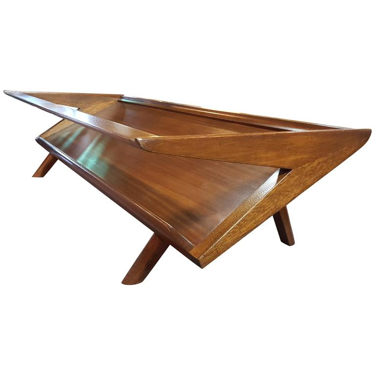 Mid Century Coffee Table John Keal For Brown Saltman At: John Keal For Brown Saltman Coffee Table At 1stdibs